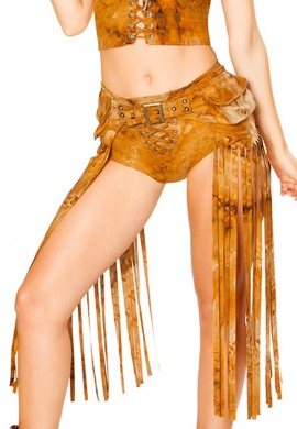 Rusty Tie Dye Fringe Hip Pack