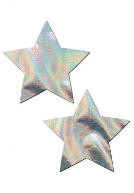 Holographic SIlver Star Pasties