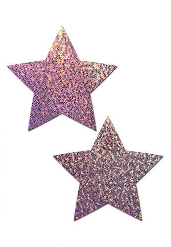 Lilac Glitter Star Pasties