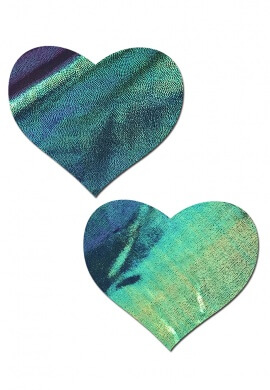 Black Opal Heart Pasties