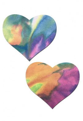 Tie Dye Rainbow Heart Pasties