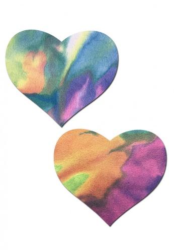 Tie Dye Rainbow Heart Pasties