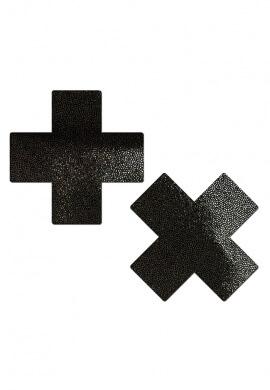 Liquid Black Cross Pasties
