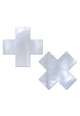 Holographic White Cross Pasties
