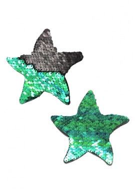 Black Reversible Sequin Starfish Pasties
