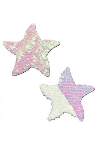 Pearl White Sequin Starfish Pasties