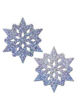 Silver Glitter Snowflake Pasties
