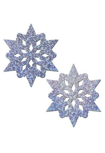 Silver Glitter Snowflake Pasties