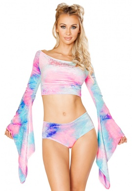 Cotton Kandi Tie Dye Gypsy Sleeve Top