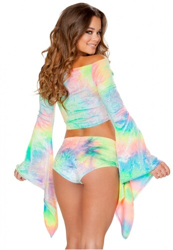 Pastel Tie Dye Gypsy Sleeve Top