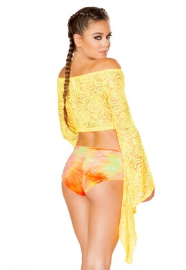 Sunshine Lace Gypsy Sleeve Top