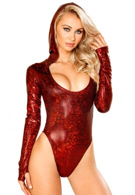 Broken Red Long Sleeve Bodysuit