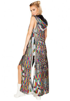 Rainbow Reversible Sequin Duster