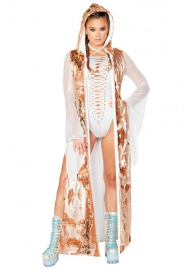 Rose Gold Reversible Sequin Duster