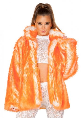 Tangerine Tipped Hip Length Coat