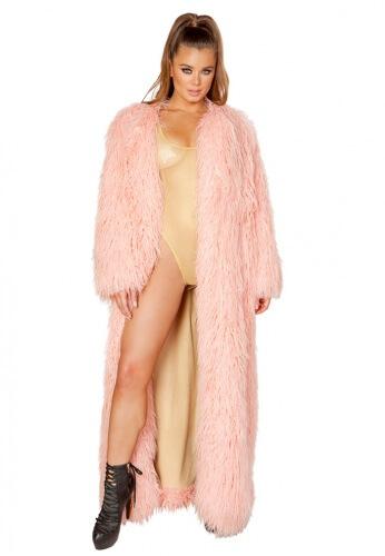 Vintage Rose Full Length Fur Coat