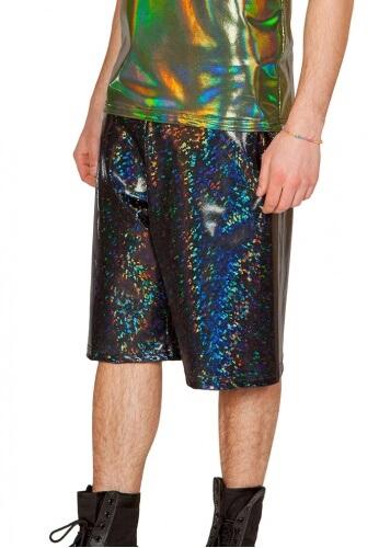 Holographic Black Broken Board Shorts