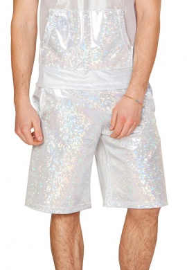 Holographic Silver Broken Board Shorts