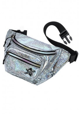 Silver Sparkles Holographic Sling Fanny Pack