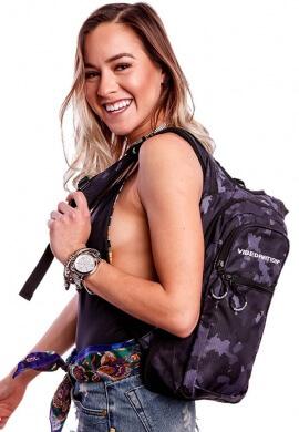 VIP Black Camo Hydration Bag