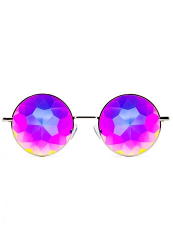 Silver Imagine Kaleidoscope Glasses