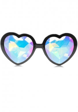 Black Heart Kaleidoscope Glasses