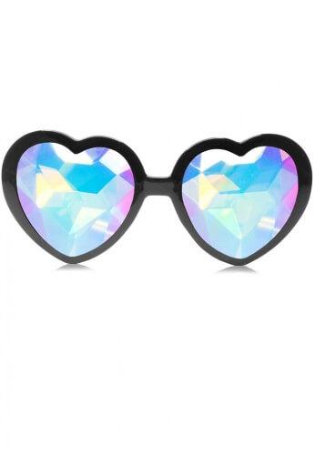 Black Heart Kaleidoscope Glasses