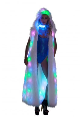 Rainbow LED Light Up Fur Duster