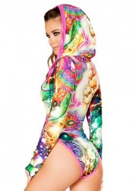 Mystic Hooded Long Sleeve Bodysuit