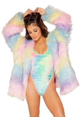 Candyland Faux Fur Coat