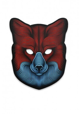 Light Up Fox Mask