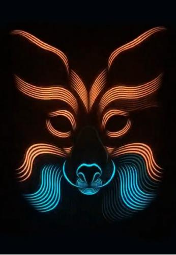 Light Up Fox Mask