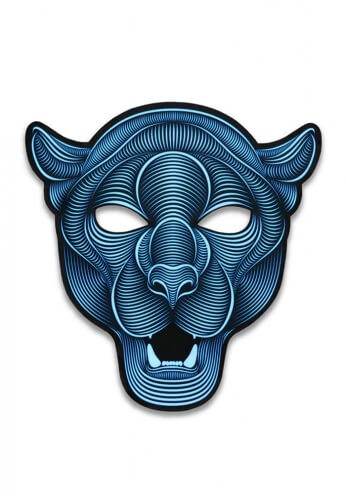 Light Up Jaguar Mask