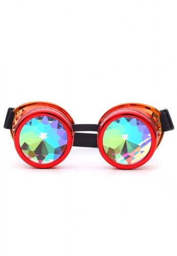 Fire Kaleidoscope Goggles
