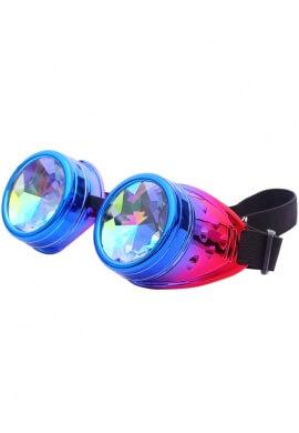 Holographic Unicorn Kaleidoscope Goggles