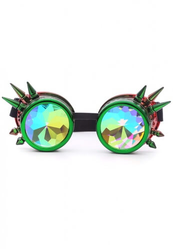 Watermelon Spiked Kaleidoscope Goggles