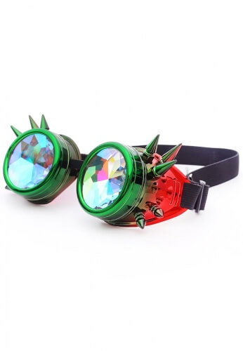 Watermelon Spiked Kaleidoscope Goggles
