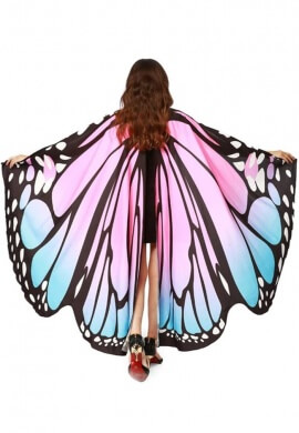 Blue and Pink Butterfly Wings
