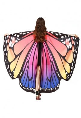 Pastel Rainbow Butterfly Wings