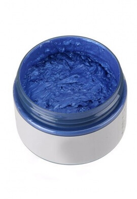 Blue Colored Wax Hair Dye