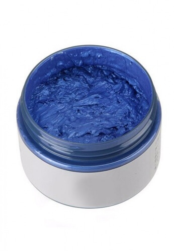 Temporary Blue Colored Wax Hair Dye
