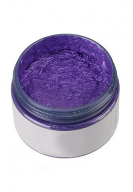 Purple Colored Wax Hair Dye