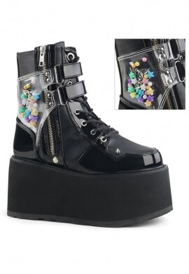 Black Kandi Damned-115 Ankle Boots
