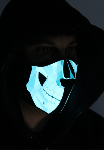 Skull Light Up Mask