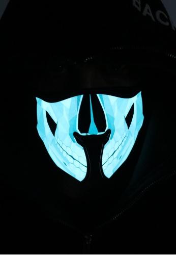 Skull Light Up Mask