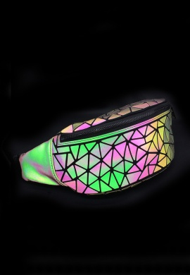 Holographic Geometric Fanny Pack