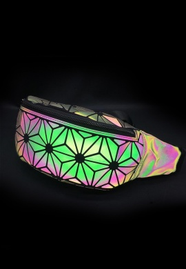 Holographic Geometric Star Fanny Pack
