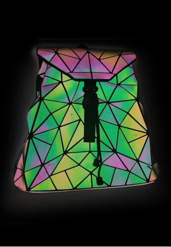 Holographic Geometric Festival Bag