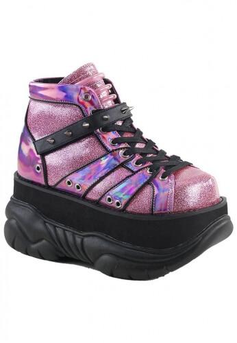 Demonia Glitter Pink Neptune-100 Boots