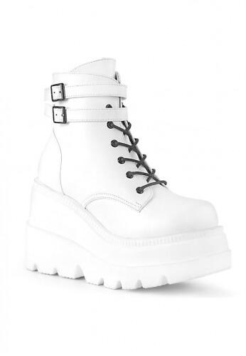 Demonia White Shaker-52 Boots